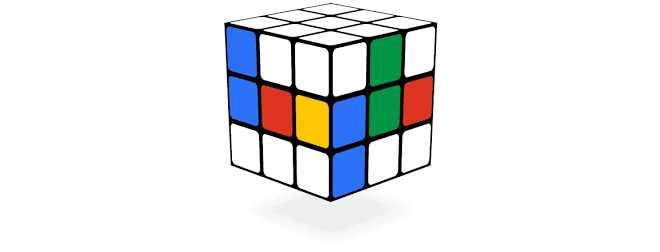 Cubo de Rubik - jogos conhecidos do google doodle