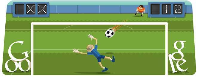 Futebol - jogos conhecidos do google doodle