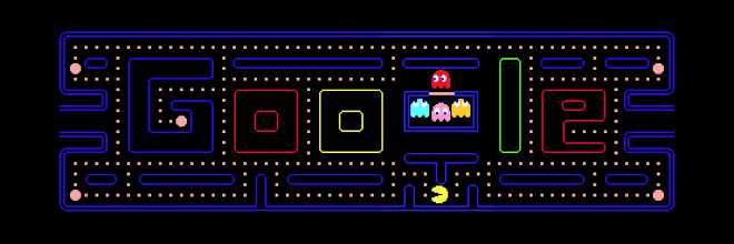 PAC-MAN - jogos conhecidos do google doodle