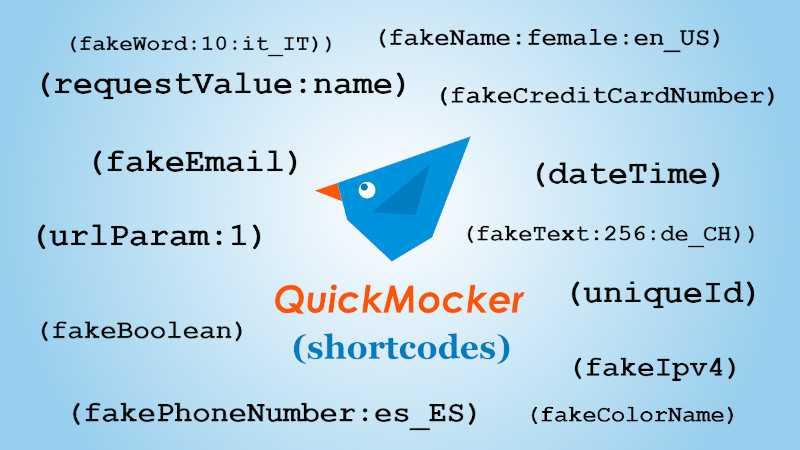 Dynamic API mocking using shortcodes in QuickMocker